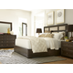 Universal Furniture California 4 Piece Upholstered Panel Bedroom Set in Hollywood Hills