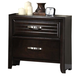 Crown Mark Furniture Jocelyn Nightstand in Dark Brown B7400-2