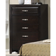 Crown Mark Furniture Jocelyn Drawer Chest in Dark Brown B7400-4