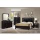 Crown Mark Furniture Jocelyn Bedroom Set in Dark Brown