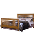 Carolina Furniture Carolina Oak Queen Slat Bed in Golden Oak