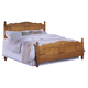 Carolina Furniture Carolina Oak Queen Panel Bed in Golden Oak