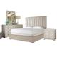 Universal Furniture California 4 Piece Panel Bedroom Set in Malibu