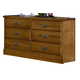 Carolina Furniture Carolina Oak Double Dresser in Golden Oak 235600