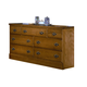 Carolina Furniture Carolina Oak Triple Dresser in Golden Oak 235700