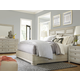 Universal Furniture California 4 Piece Upholstered Panel Bedroom Set in Malibu