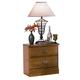 Carolina Furniture Carolina Oak 2 Drawer Nightstand in Golden Oak 232200