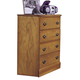 Carolina Furniture Carolina Oak 4 Drawer Chest in Golden Oak 234400