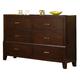 Crown Mark Furniture Serena Dresser in Rich Brown B8100-1