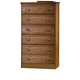 Carolina Furniture Carolina Oak 6 Drawer Chest in Golden Oak 234602