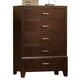 Crown Mark Furniture Serena Drawer Chest in Rich Brown B8100-4
