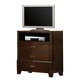 Crown Mark Furniture Serena Media Chest in Rich Brown B8100-7
