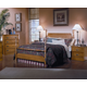 Carolina Furniture Carolina Oak 4 Piece Poster Bedroom Set in Golden Oak