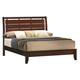 Crown Mark Furniture Evan King Bed in Warm Brown