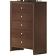 Crown Mark Furniture Evan Drawer Chest in Warm Brown B4700-4