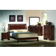 Crown Mark Furniture Evan Bedroom Set in Warm Brown