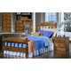 Carolina Furniture Carolina Oak 4 Piece Spindle Bedroom Set in Golden Oak