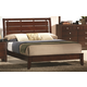 Crown Mark Furniture Evan Full Bed in Warm Brown