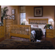 Carolina Furniture Carolina Oak 4 Piece Slat Bedroom Set in Golden Oak