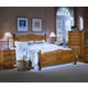 Carolina Furniture Carolina Oak 4 Piece Panel Bedroom Set in Golden Oak