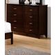 Crown Mark Furniture Ian Door Dresser in Brown B7300-1
