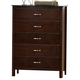 Crown Mark Furniture Ian Drawer Chest in Brown B7300-4