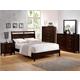 Crown Mark Furniture Ian Bedroom Set in Brown