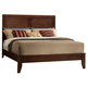 Crown Mark Furniture Silvia Queen Bed in Chocolate Brown