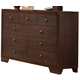 Crown Mark Furniture Silvia Dresser in Chocolate Brown B4600-1