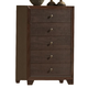 Crown Mark Furniture Silvia Drawer Chest in Chocolate Brown B4600-4