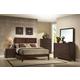 Crown Mark Furniture Silvia Bedroom Set in Chocolate Brown