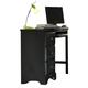 Carolina Furniture Carolina Midnight Computer Desk in Black 431300