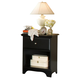 Carolina Furniture Carolina Midnight Nightstand in Black 432100