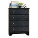 Carolina Furniture Carolina Midnight 4 Drawer Chest in Black 434400