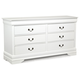 Crown Mark Furniture Louis Philip Dresser in White B3600-1