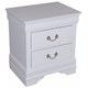 Crown Mark Furniture Louis Philip Nightstand in White B3600-2