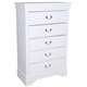 Crown Mark Furniture Louis Philip Drawer Chest in White B3600-4