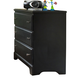 Carolina Furniture Carolina Midnight 3 Dresser Drawer in Black 435300