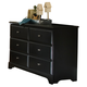 Carolina Furniture Carolina Midnight 6 Dresser Drawer in Black 435600