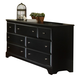 Carolina Furniture Carolina Midnight 7 Dresser Drawer in Black 435700
