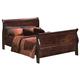 Crown Mark Furniture Louis Philip King Bed in Dark Cherry