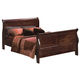 Crown Mark Furniture Louis Philip Queen Bed in Dark Cherry