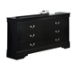 Crown Mark Furniture Louis Philip Dresser in Black B3900-1