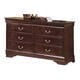 Crown Mark Furniture Louis Philip Dresser in Dark Cherry B3751