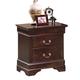 Crown Mark Furniture Louis Philip Nightstand in Dark Cherry B3752