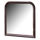 Crown Mark Furniture Louis Philip Dresser Mirror in Dark Cherry B3751-1