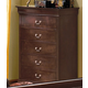 Crown Mark Furniture Louis Philip Drawer Chest in Dark Cherry B3754