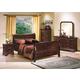Crown Mark Furniture Louis Philip Bedroom Set in Dark Cherry
