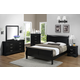 Crown Mark Furniture Louis Philip Bedroom Set in Black