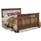 Carolina Furniture Crossroads Full Slat Bed in Brown Cherry